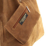 XXL SUEDE BUIDELTAS Cognackleur Made in ITALY_